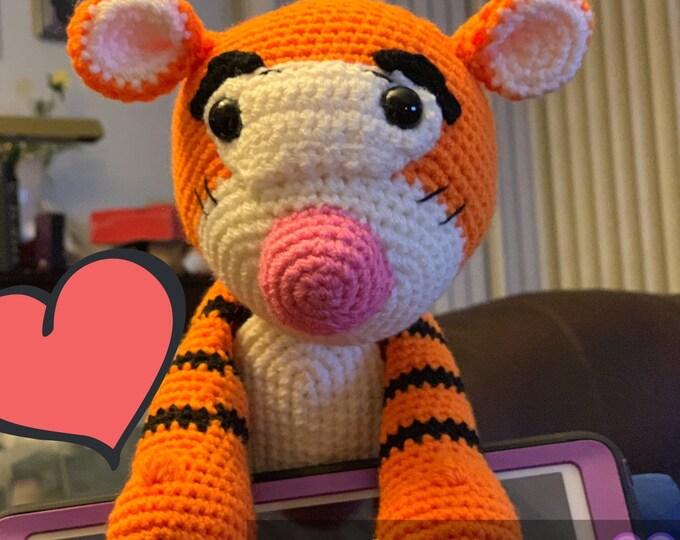 Tigger, Winnie the Pooh inspired, amigurumi, stuffed toy