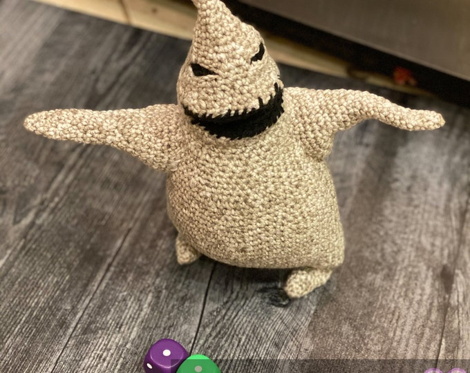 Ready-to-ship, finished, Nightmare Before Christmas inspired, Oogie Boogie