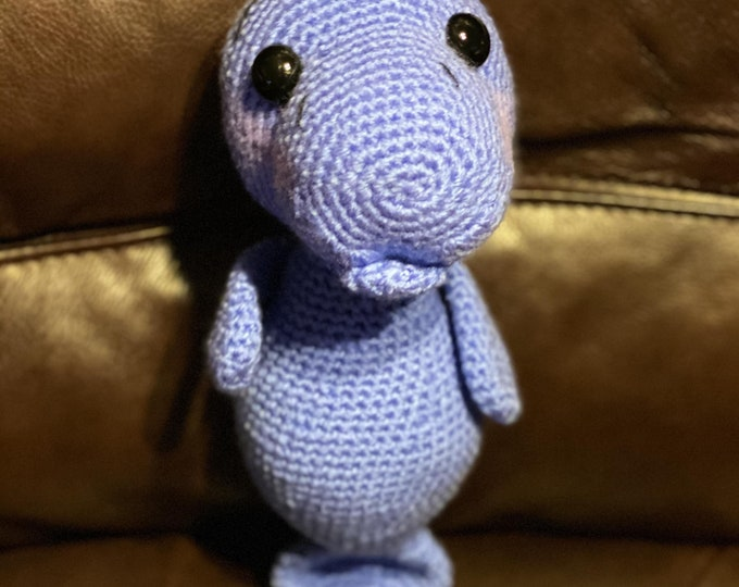 Manatee, Amigurumi, crochet, stuffed animal, ready to ship