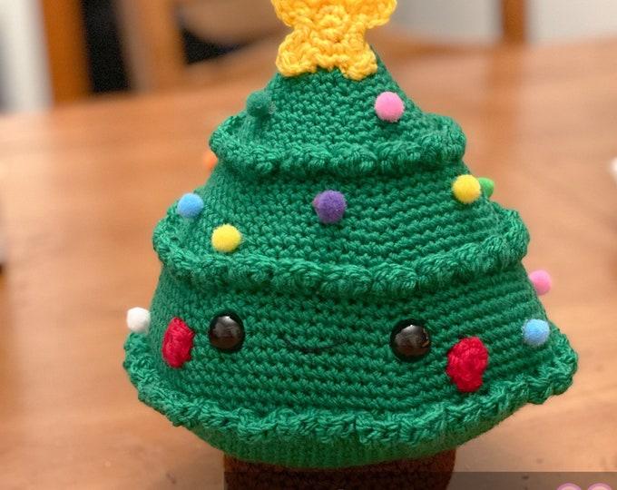 Ready to ship, Holly the Christmas Tree, plush, Amigurumi, crochet