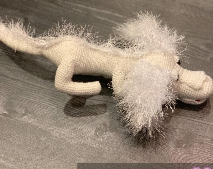 Falkor the good luck dragon, Amigurumi, stuffed animal, ready to ship