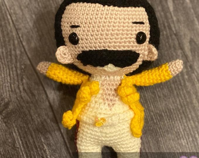 Ready to ship, Rock Star cuddler, Amigurumi, crochet, plush