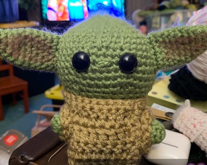 Baby Alien, made to order, amigurumi stuffed toy