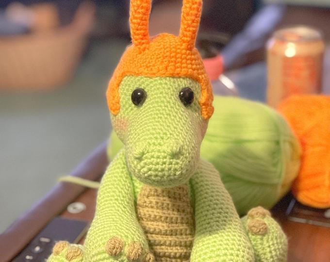Made to order, Alligator Loki, Loki variant, stuffed animal, Amigurumi, crochet