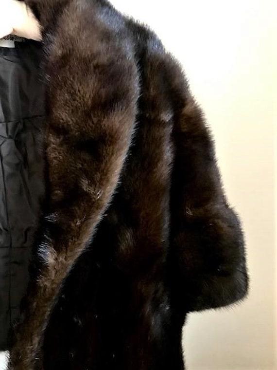 Stunning Vintage Dark Mink Fur Stole