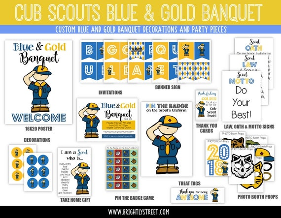 Cub Scouts Blue And Gold Banquet Customized Invitations Etsy