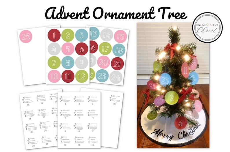 Christmas Advent Ornament Tree Christ Centered image 0