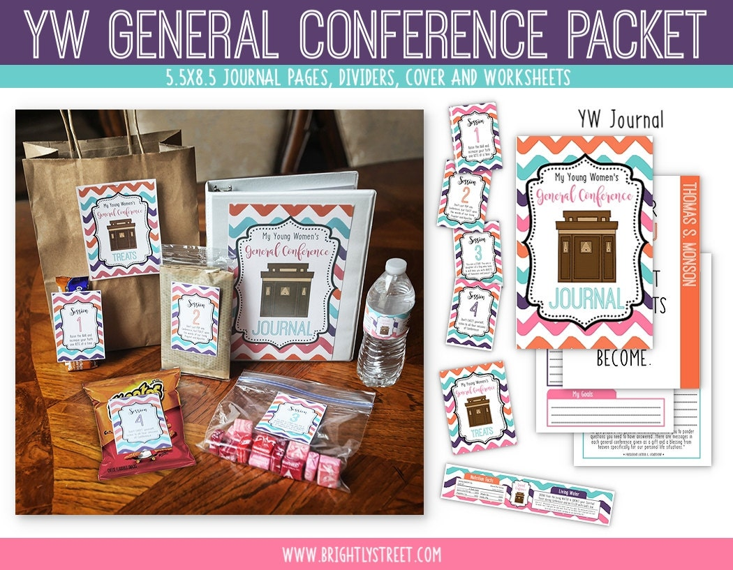 Young Women Lds General Conference Packet Etsy