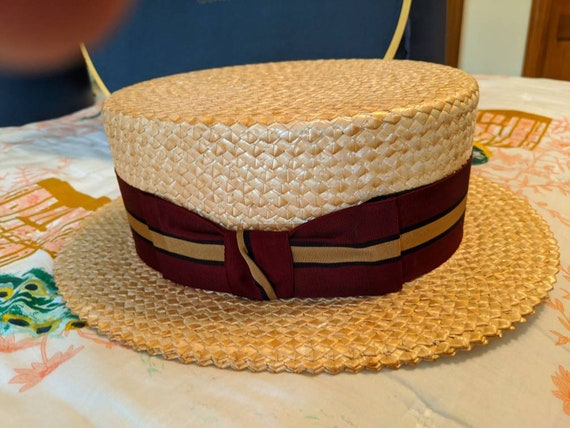 Brooks brothers boater sailor straw hat