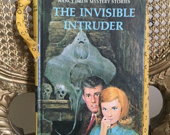 """Nancy Drew Mystery """"The Invisible Intruder""""  Book Clutch OOAK"""