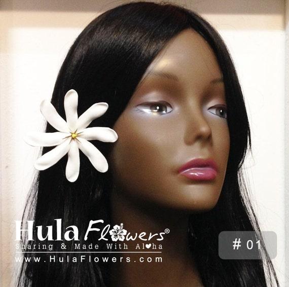 Articoli simili a Clip di capelli di Gardenia di Tahiti ...