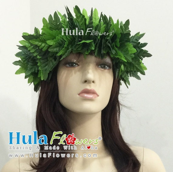 Silk Fern Haku Headband For Hawaiian Polynesian for Hula  d3c95d2cc3e