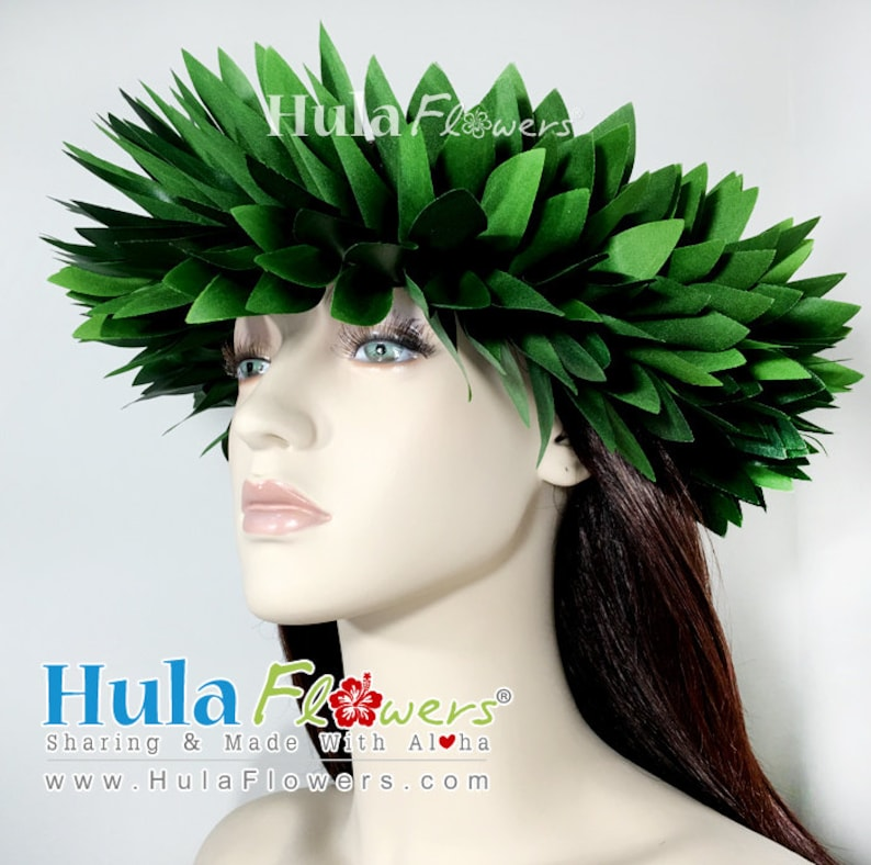 Silk Ti leaves Haku Head Hei Headband for Hula or Tahitian  e467fa00e79