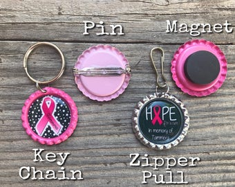 Personalized bottle cap Magnet or Key Chain