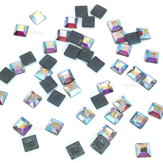 24 pcs Swarovski 2400 Square Flatbacks Hotfix 4mm nail art  707b3c82dfd7