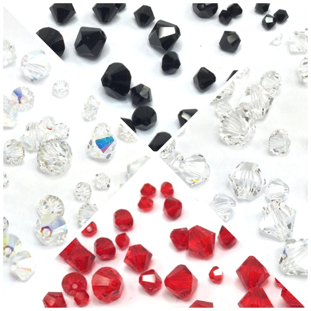 Gemengde maten echte Swarovski 5328 XILION BICONE kralen sieraden maken * alle maten pick kleuren gratis verzending