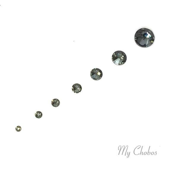 Swarovski 2058 2088 crystal flatback rhinestones BLACK DIAMOND  741338ee807e