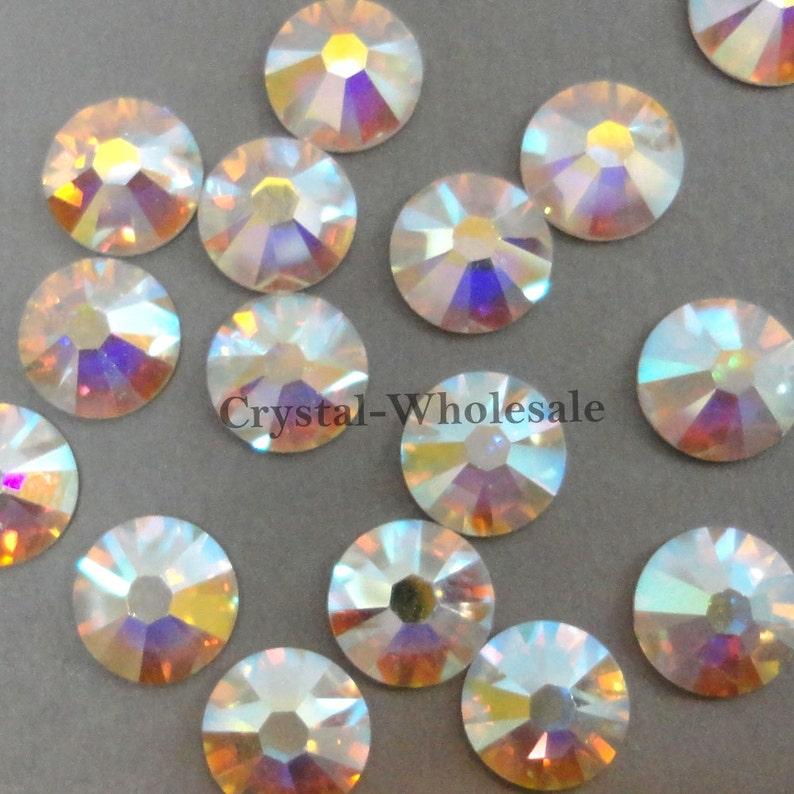84f4f9dc53 Crystal AB (001 AB) Swarovski 2058 Flatbacks No-Hotfix Rhinestones (ss5 ,  ss6 , ss7 , ss8 , ss9 , ss10) Nail Art ** FREE Shipping