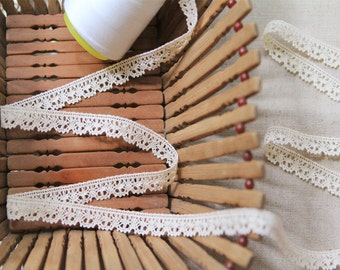 Natural Organic Cotton Lace 60mm