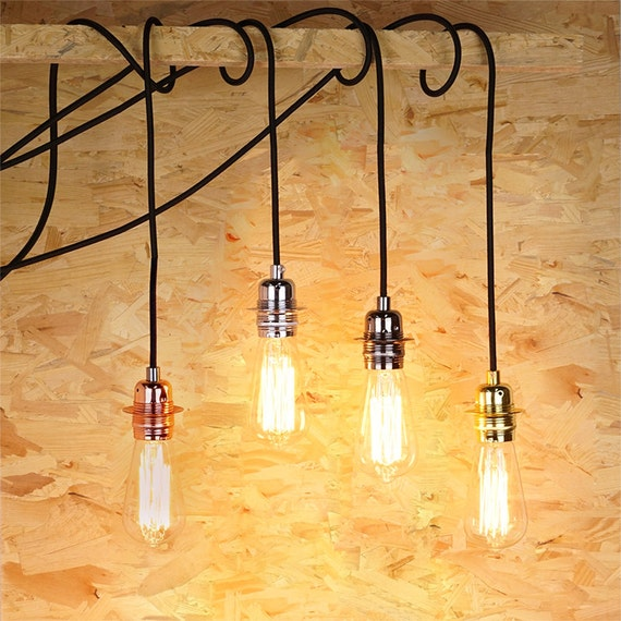 Edison Bulb Pendant Light E27 Aluminium Edison Lamp Diy Lamp Set Hanging Lamp Ceiling Lamp Edison Bulb Industrial Lighting
