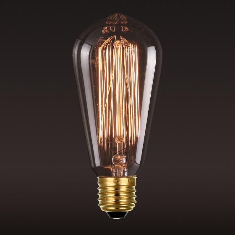 Edison E27 Squirrel Cage Filament light bulb edison bulb-110V image 0