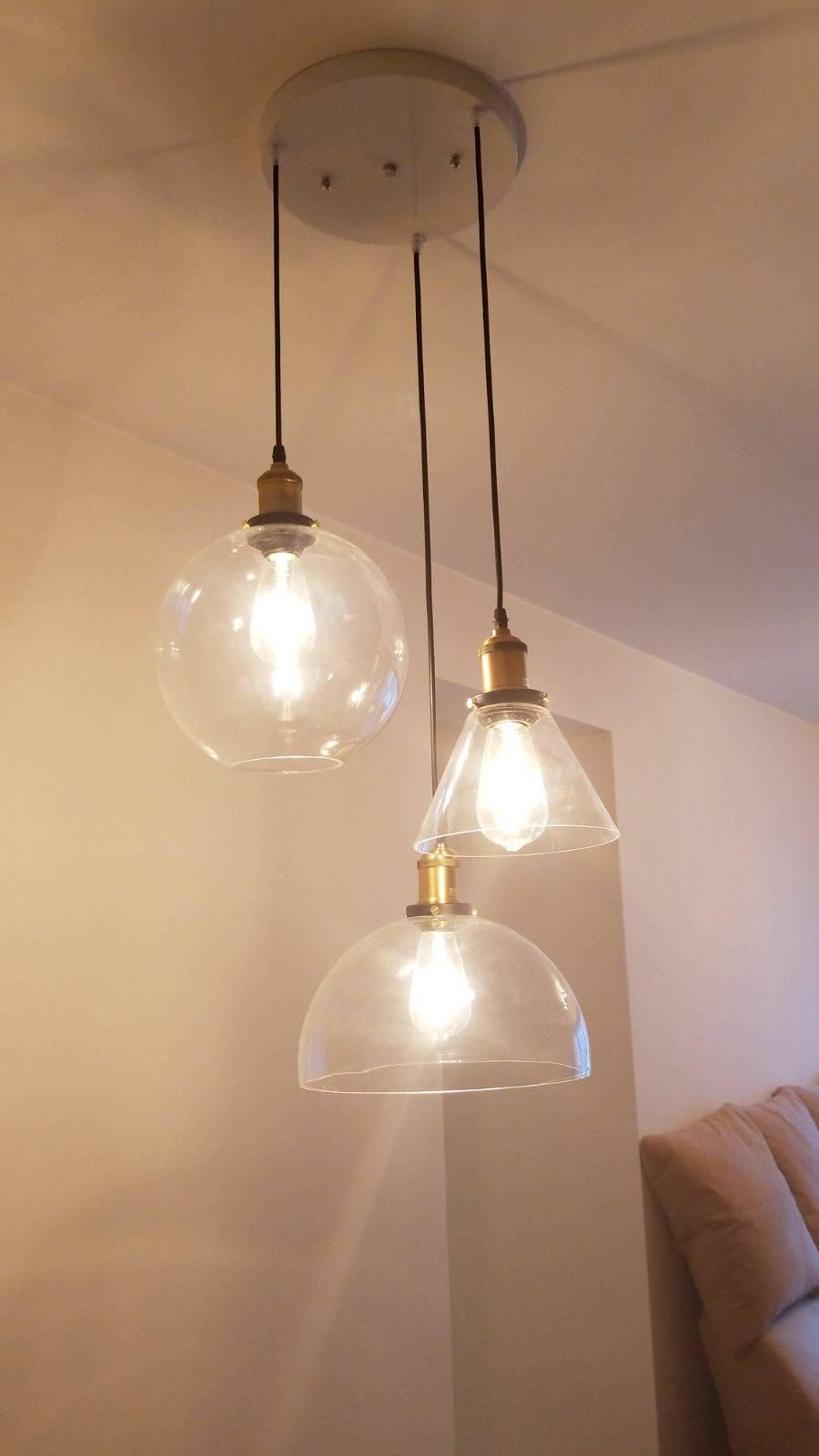 Base vetro lampada a sospensione  lampada da soffitto