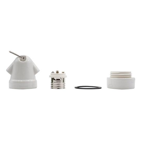 Witte porseleinen paddestoel lamphouder keramische lamp socket E27 DIY vintage stijl licht socket industriële verlichting verlichting lamp