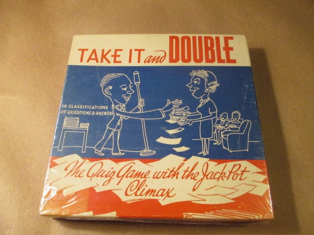 9df7ac12e RARE Game Take It and Double by Beachcraft Games The Quiz   Etsy