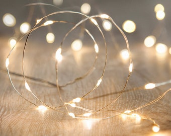 20//40//100 LED String Lights With Photo Clips Hanging Pictures Home Decor Gift US