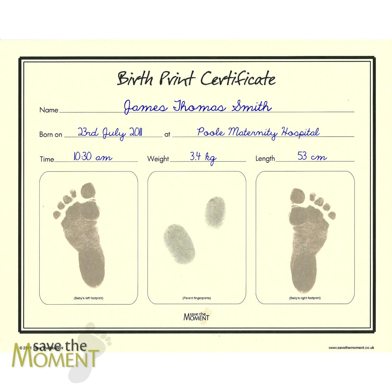 Imprimir Acta de nacimiento - recuerdo impresión sin tinta pie de ...