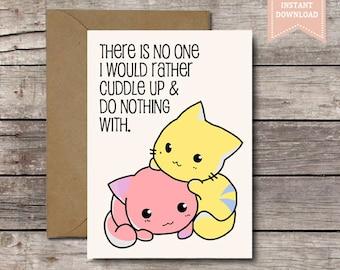 Ich liebe dich bla bla bla / Funny Valentinstag-Karte /   Etsy