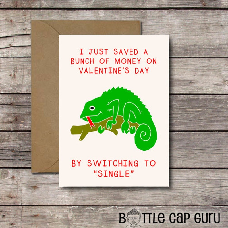 Funny Anti-Valentine Card for Singles / I Just Saved a Bunch image 0
