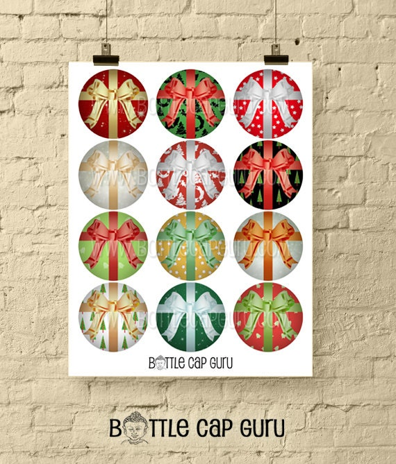 Christmas Gift Wrapper Design Printable.Christmas Gift Wrap 2 Inch Circles Printable Bottle Cap Images Collage Sheet For Holiday Gift Tags Crafts Instant Download