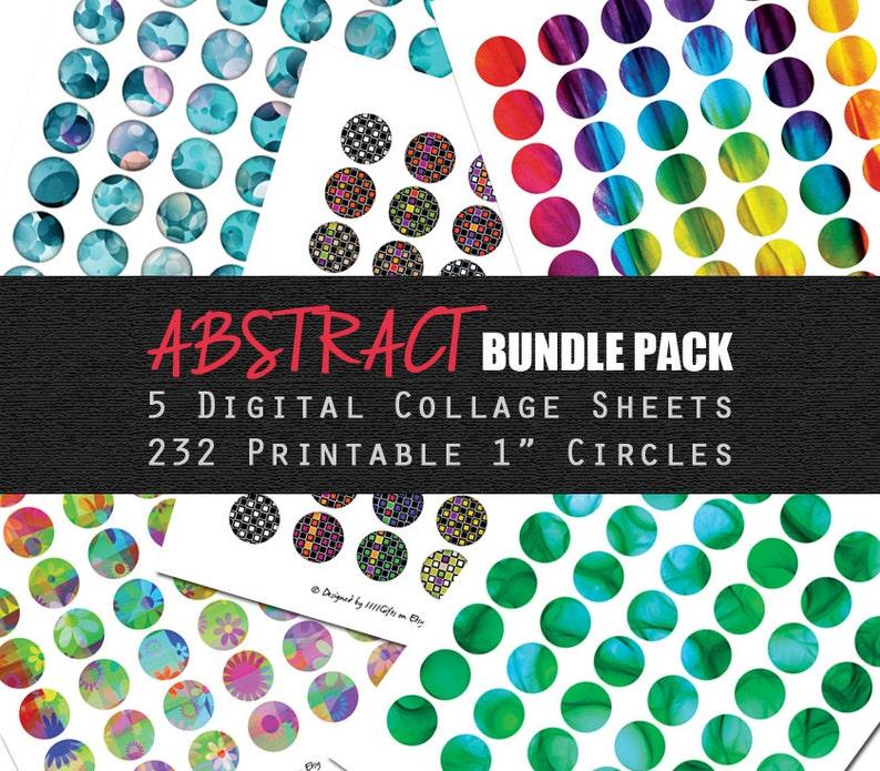 Bundle & Save ABSTRACT BUNDLE PACK: 5 Digital Collage Sheets image 0