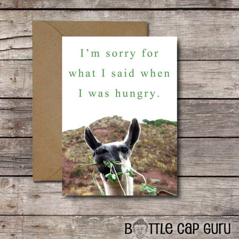 I'm Sorry For What I Said When I Was Hungry / Printable image 0