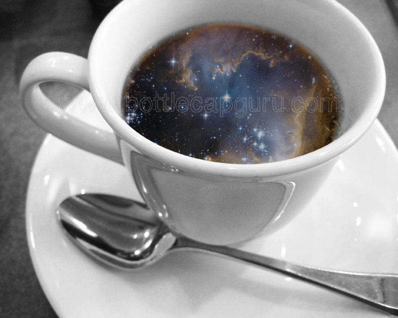 COSMIC COFFEE CUP / 10x8 Printable Poster / Universe in image 0