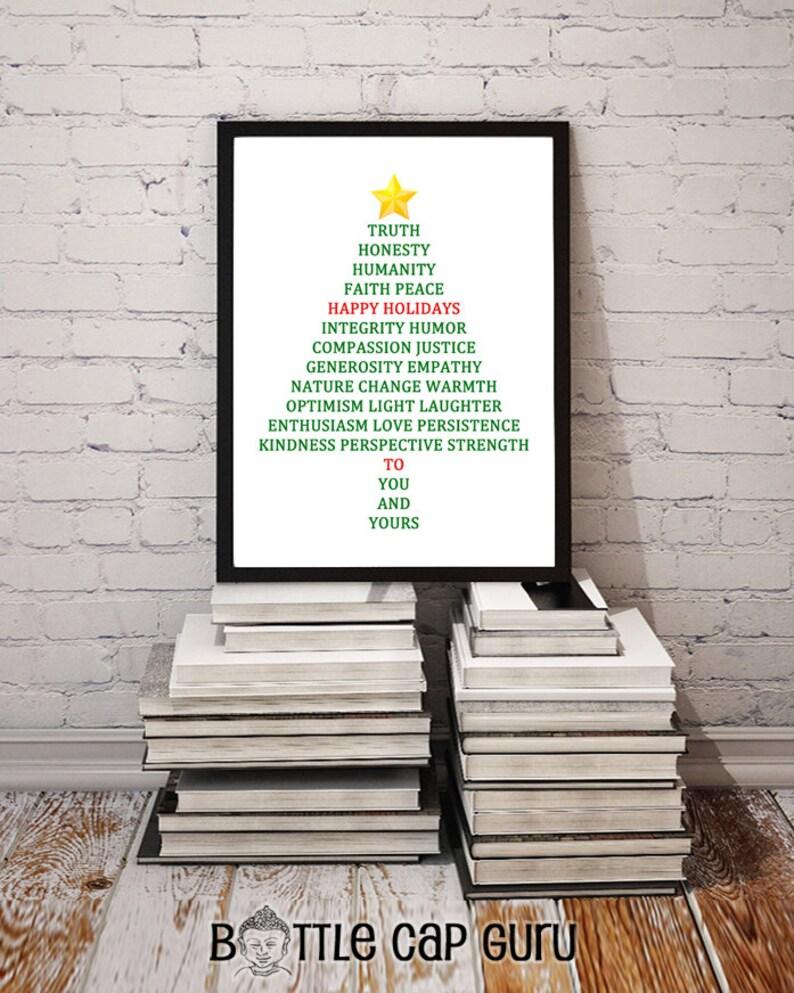 Happy Holidays Christmas Tree Blessing SET / Printable Xmas image 0