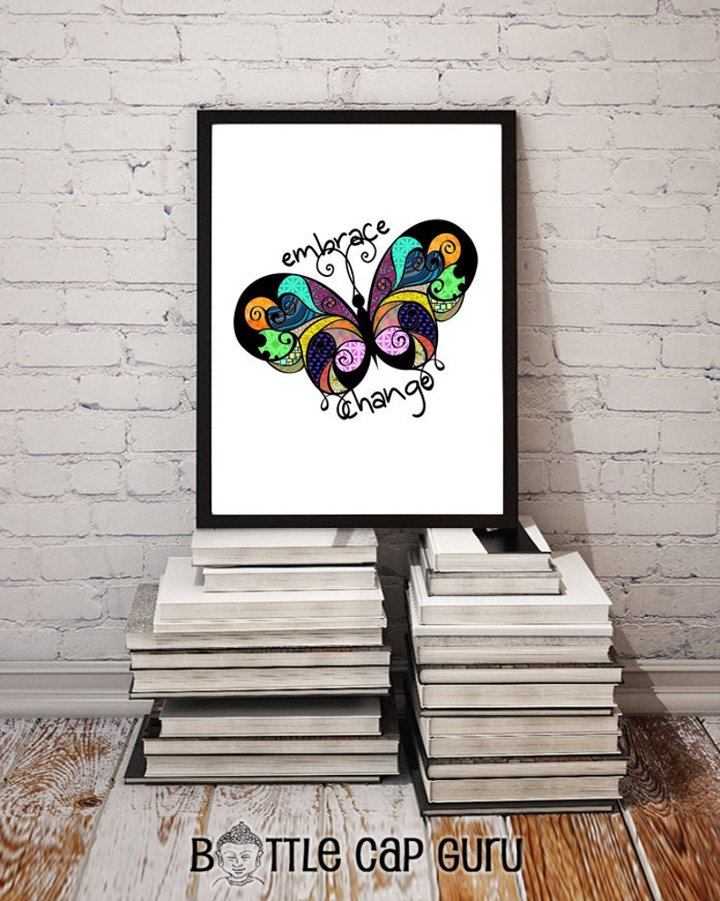 Embrace Change / Colorful Abstract Butterfly Design / image 0