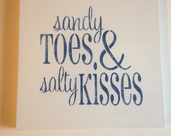 """Sandy toes 14""""x14"""" wall canvas"""