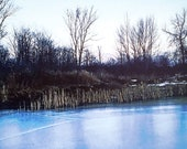 Photo Postcard - Frozen Pond