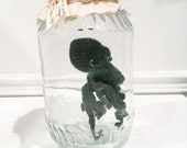 Crochet Octopus in a Jar Curiosity