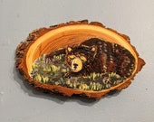 Sun Bear Woodslice Painting