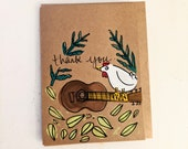 Thank You - Chicken Guitarist Card