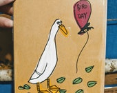 Indian Runner Duck Bird Day Birthday Card