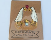 Congrats on your new hatch - baby card