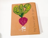 My heart beets for you Valentine Greeting Card