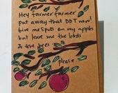 Hey Farmer Farmer - Joni Mitchell Quote Card