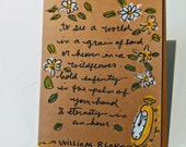 To See a World in a Grain of Sand - William Blake Quote Card