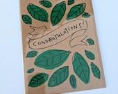 Congratulations - Leaf Banner Card