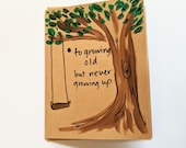 To Growing Old But Never Growing Up Birthday Card